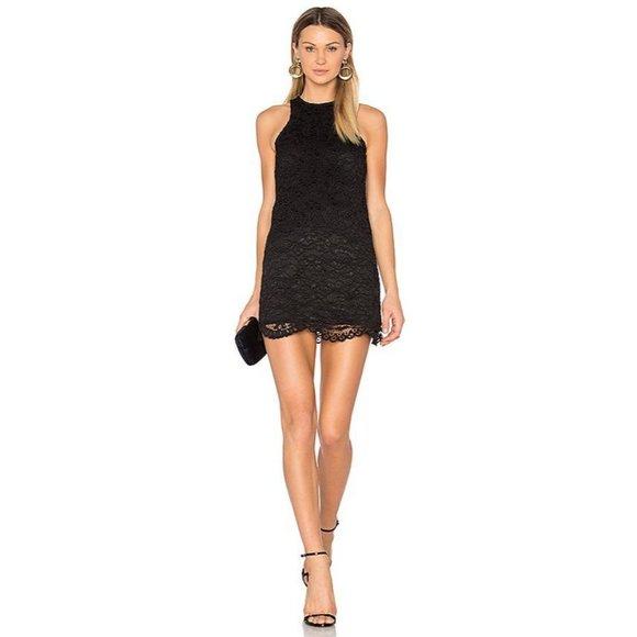 Lovers + Friends Caspian Shift Dress Black Lace Sm